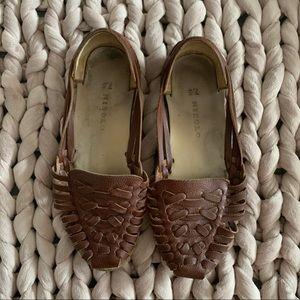 Nisolo Brown Huarache Sandals